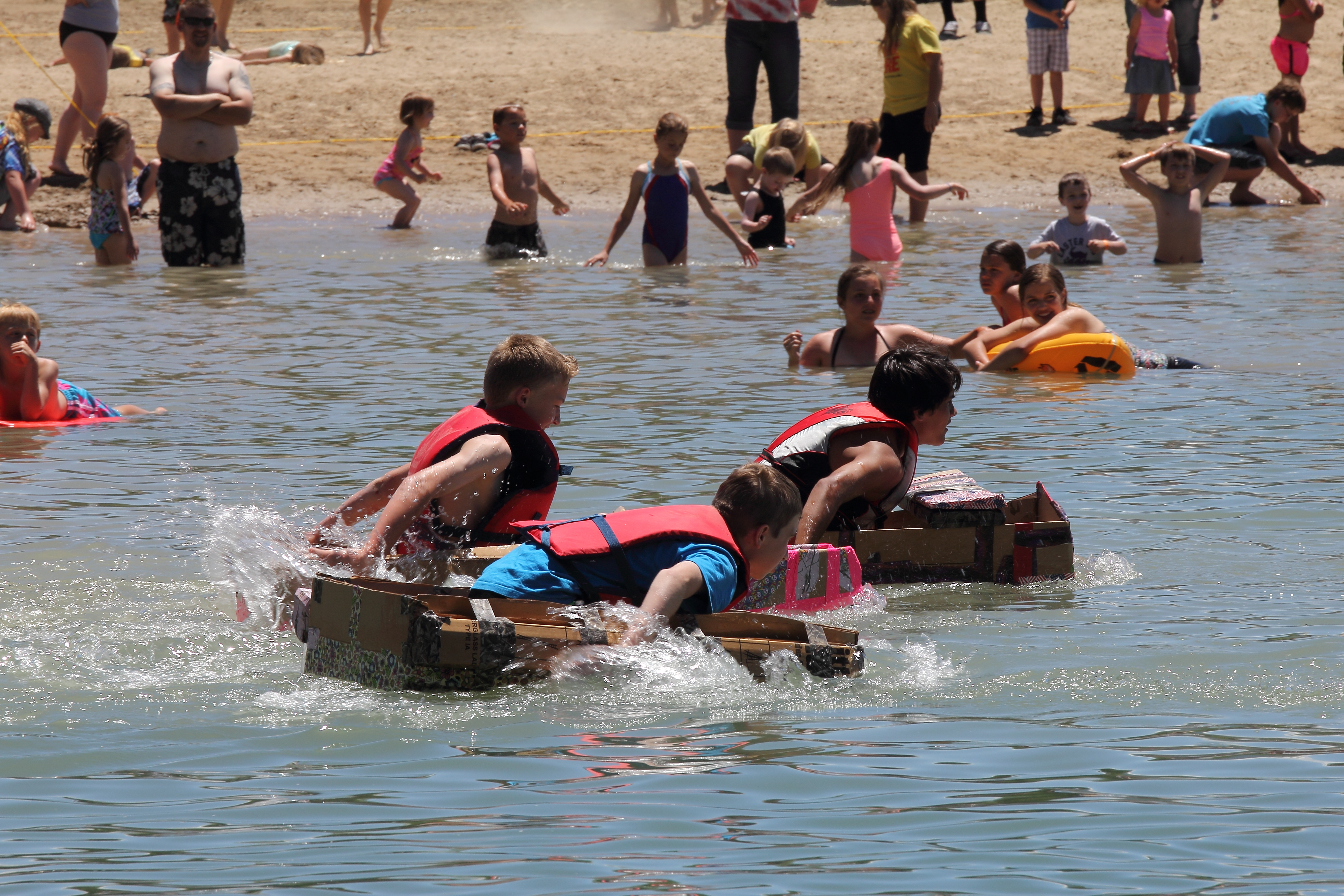 duct tape boat race