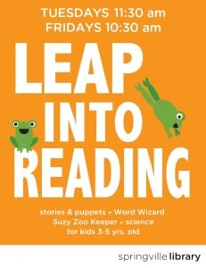 Leap Into Reading @ Springville Library | Springville | Utah | United States