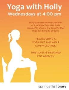 Yoga with Holly @ Springville Library | Springville | Utah | United States