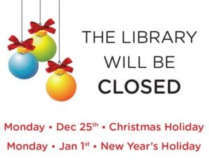 Library Closed - Happy New Year!