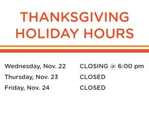 Library Closed - Happy Thanksgiving!