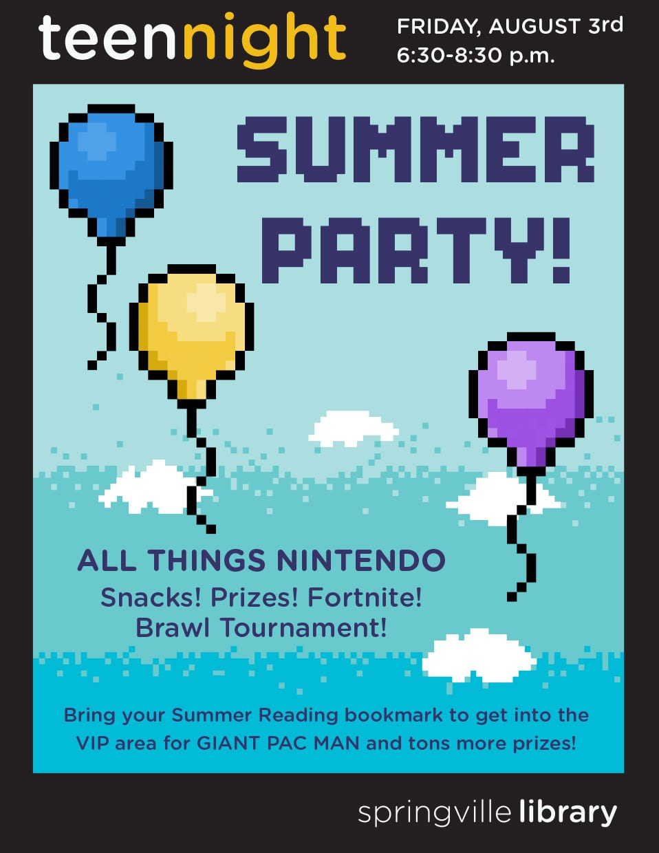 Teen Night: Summer Party | Springville Library