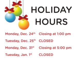 Christmas Eve - Library closing early