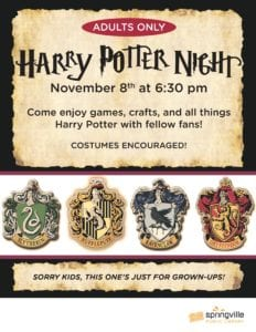 Harry Potter Night - Adults Only