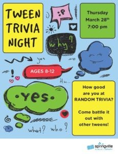 Tween Trivia Night