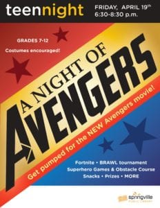 Teen Night: A Night of Avengers