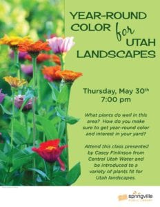 Year-Round Color for Utah Landscapes