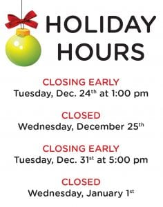Library Closing @ 1pm