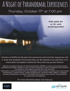 A Night of Paranormal Experiences