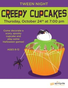 Tween Night: Creepy Cupcakes