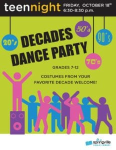 Teen Night: Decades Dance