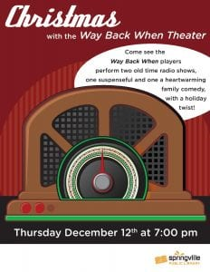 Christmas with the Way Back When Theater