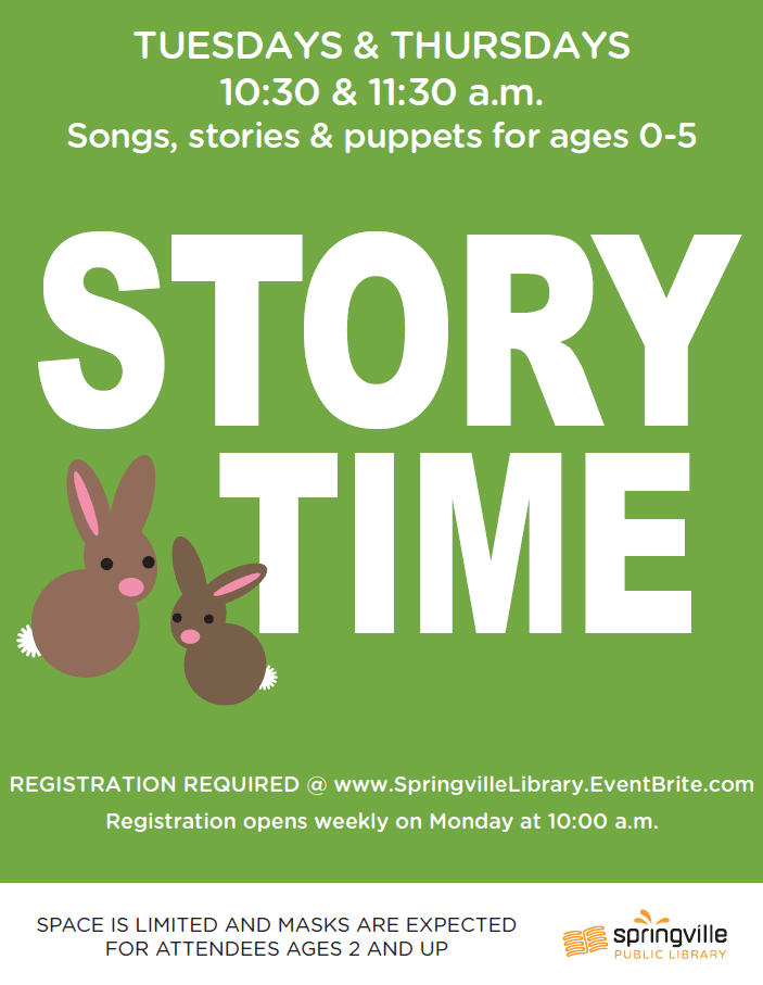 Story Time (Registration Required)