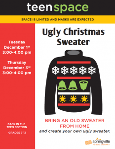 Teen Space: Ugly Christmas Sweater