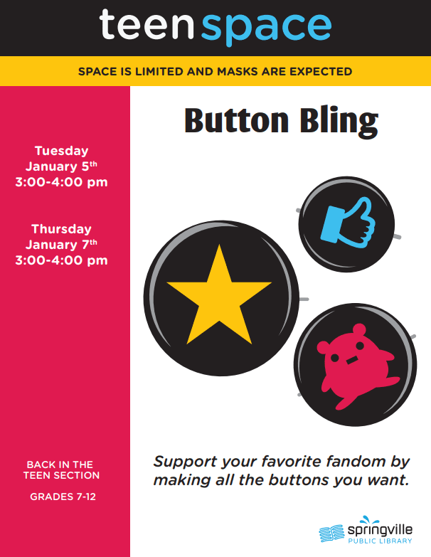 Teen Space: Button Bling