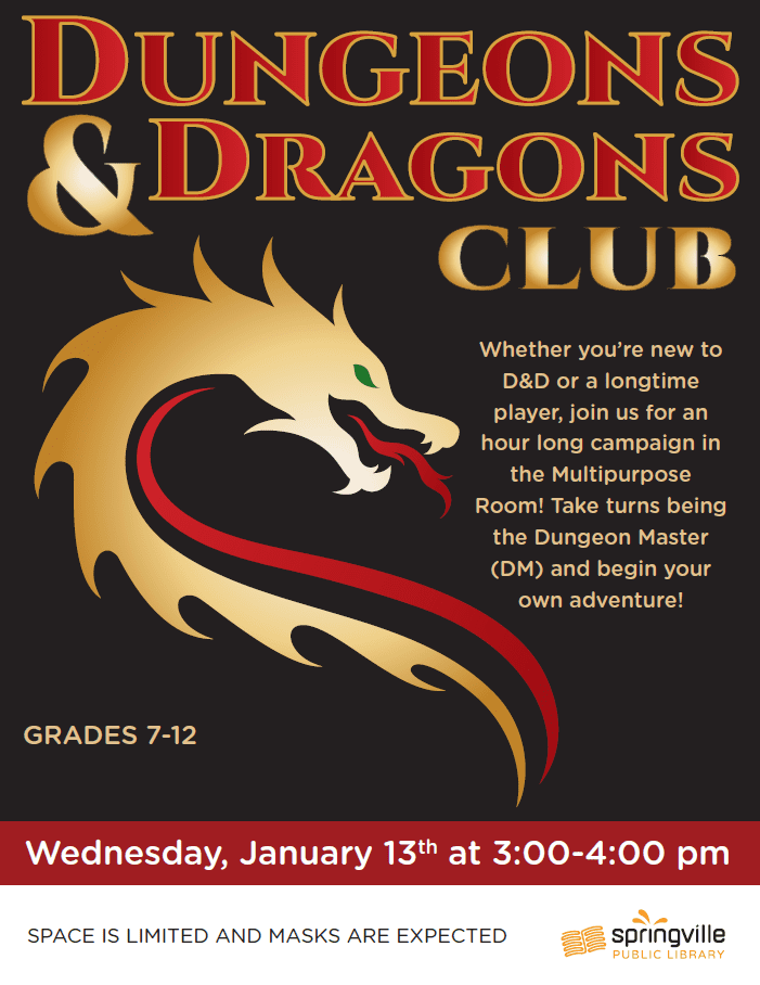 Teens: Dungeons & Dragons Club