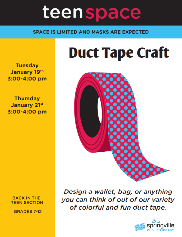 Teen Space: Duct Tape Craft