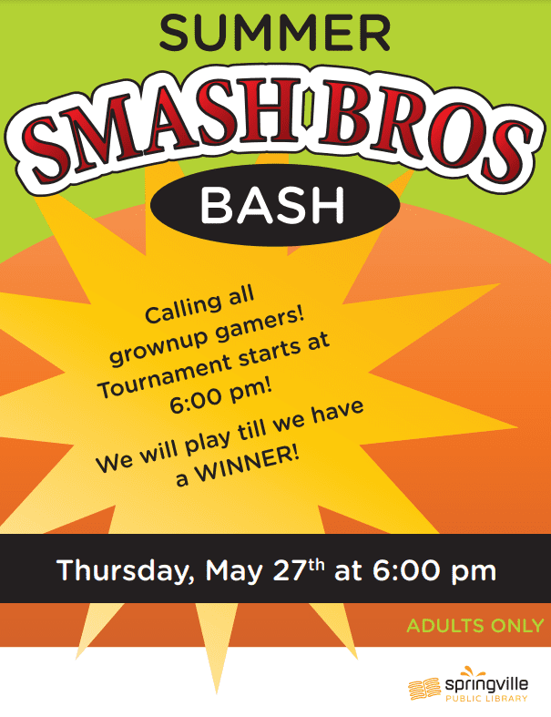 Adults Only Summer Smash Bros Bash