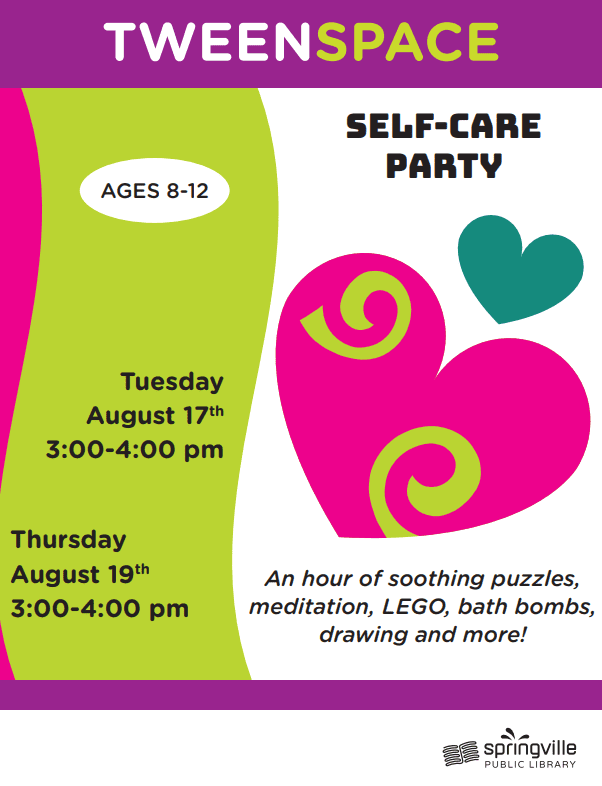 Tween Space: Self Care Party
