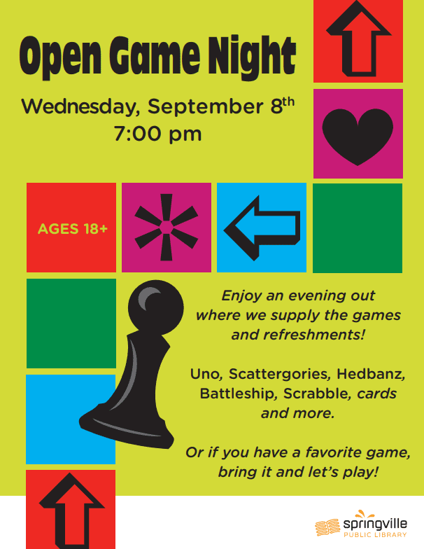 Adult Open Game Night
