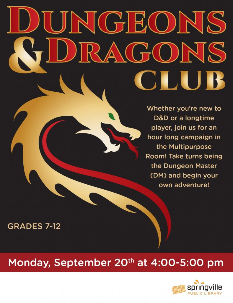 Teen Dungeons and Dragons Club