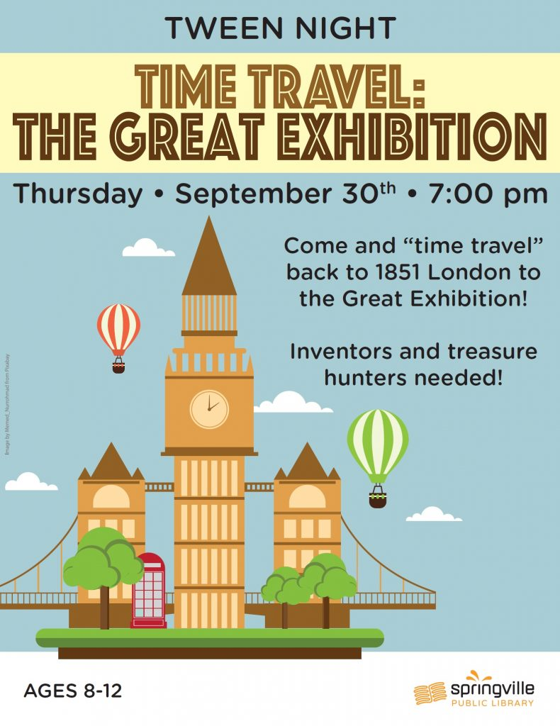 Tween Night: Time Travel to The Great Exhibition