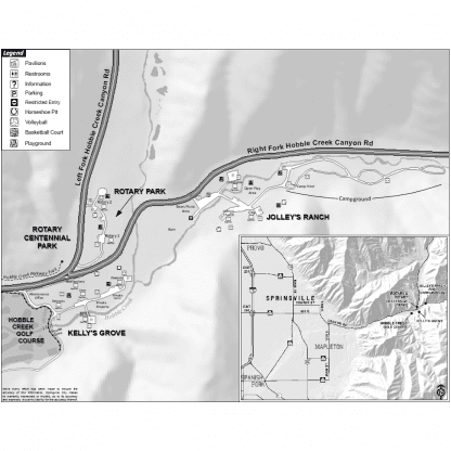 Map of Canyon Parks