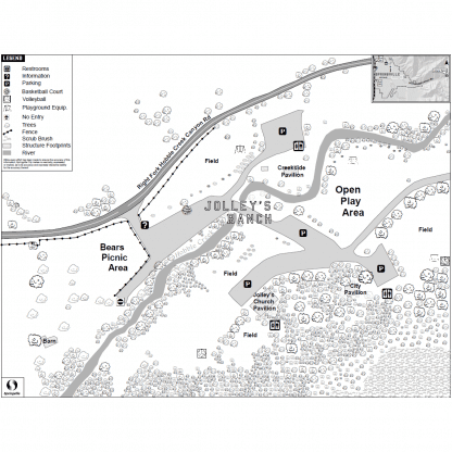 Map of Jolley's Ranch