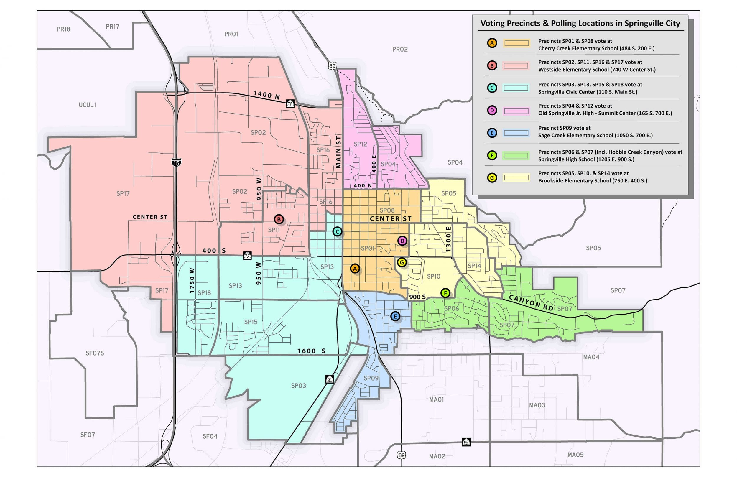 Elections Precinct Map Springville City