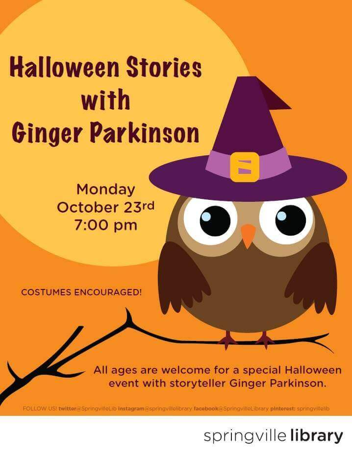 Halloween Stories with Ginger Parkinson @ Springville Public Library | Springville | Utah | United States