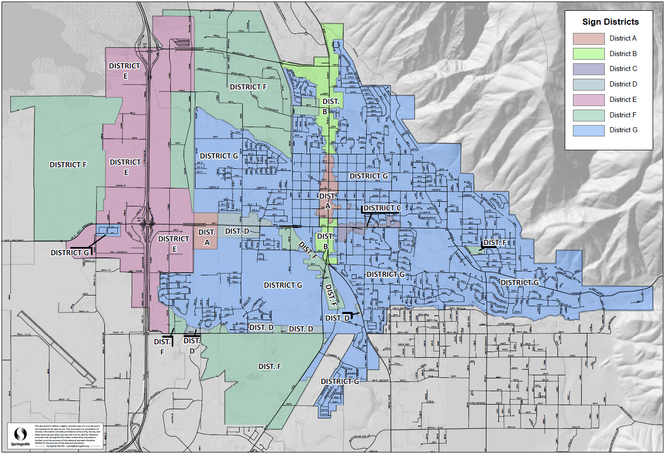 Sign District Map