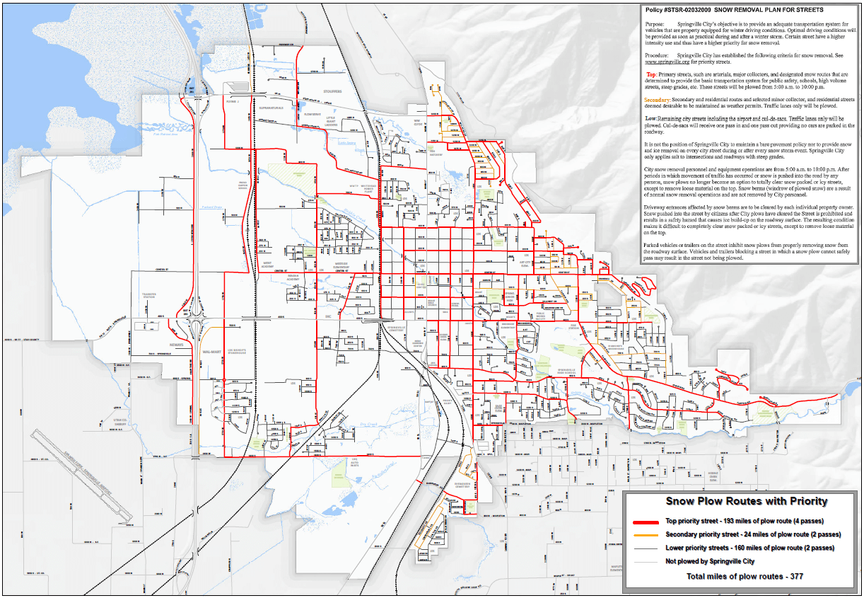 Snow Removal with Priority Streets