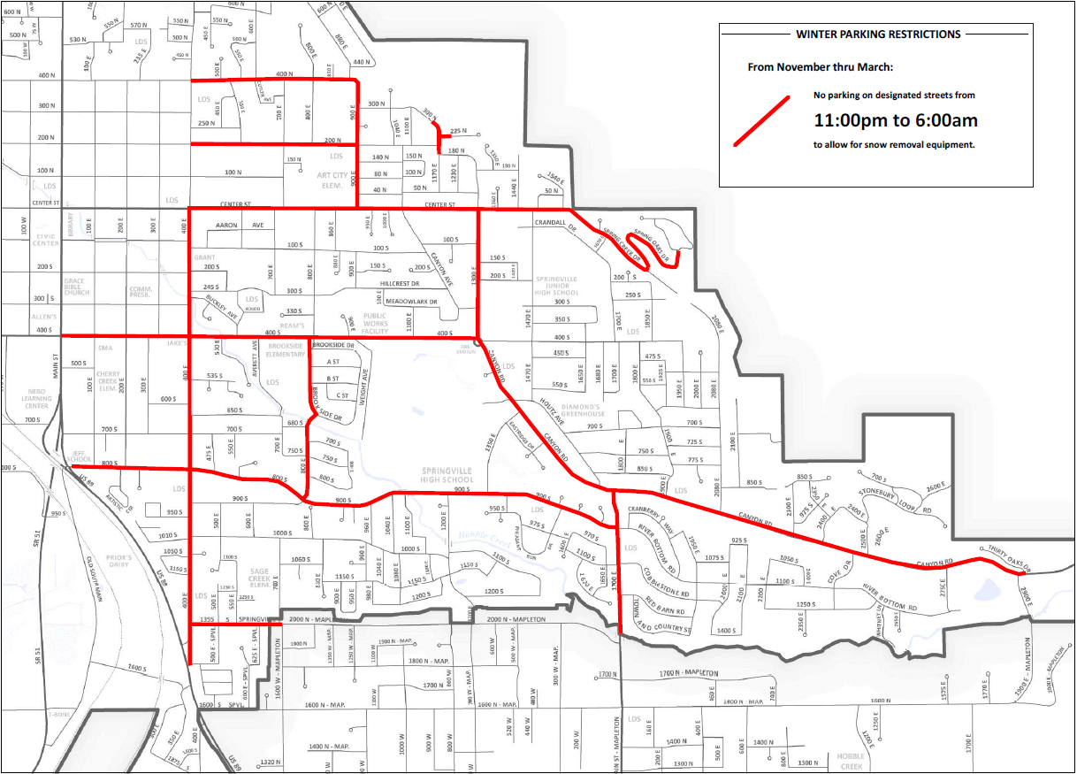 Snow Removal Parking Restrictions
