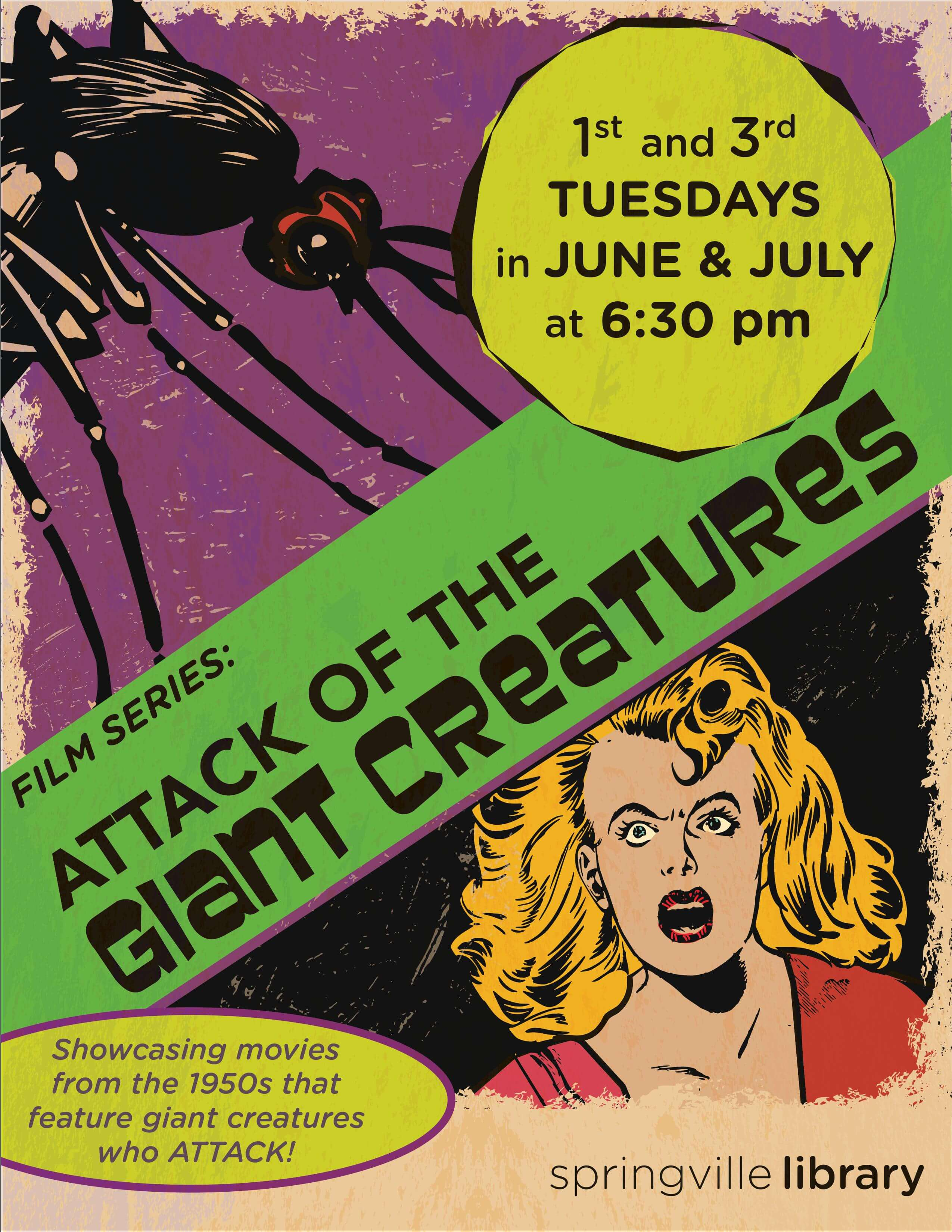 Attack of the Giant Creatures Film Series @ Springville Public Library | Springville | Utah | United States