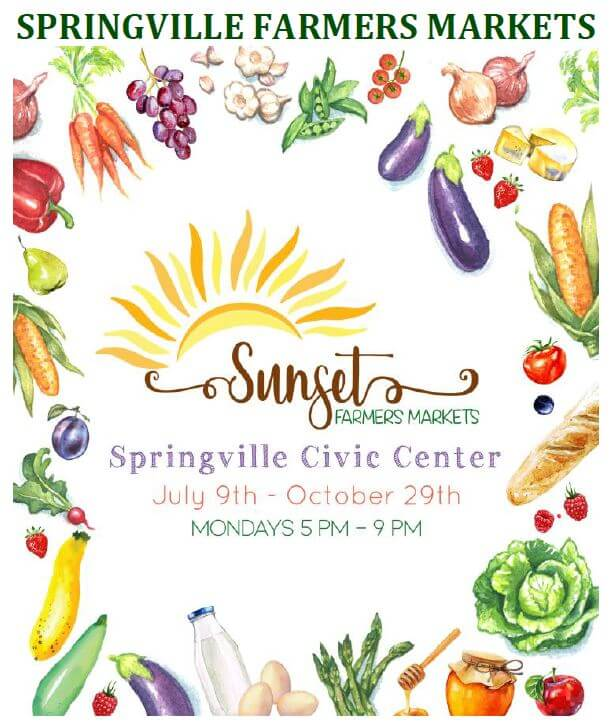 Farmers Market on Mondays @ Springville Civic Center Park | Springville | Utah | United States