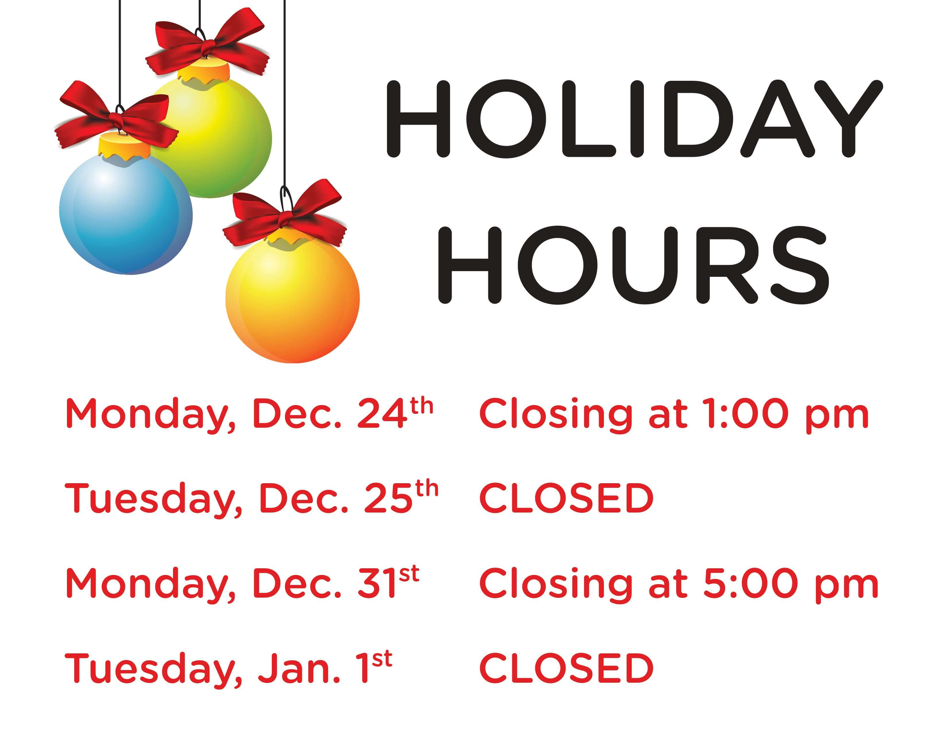 Library Closes @ 1 pm