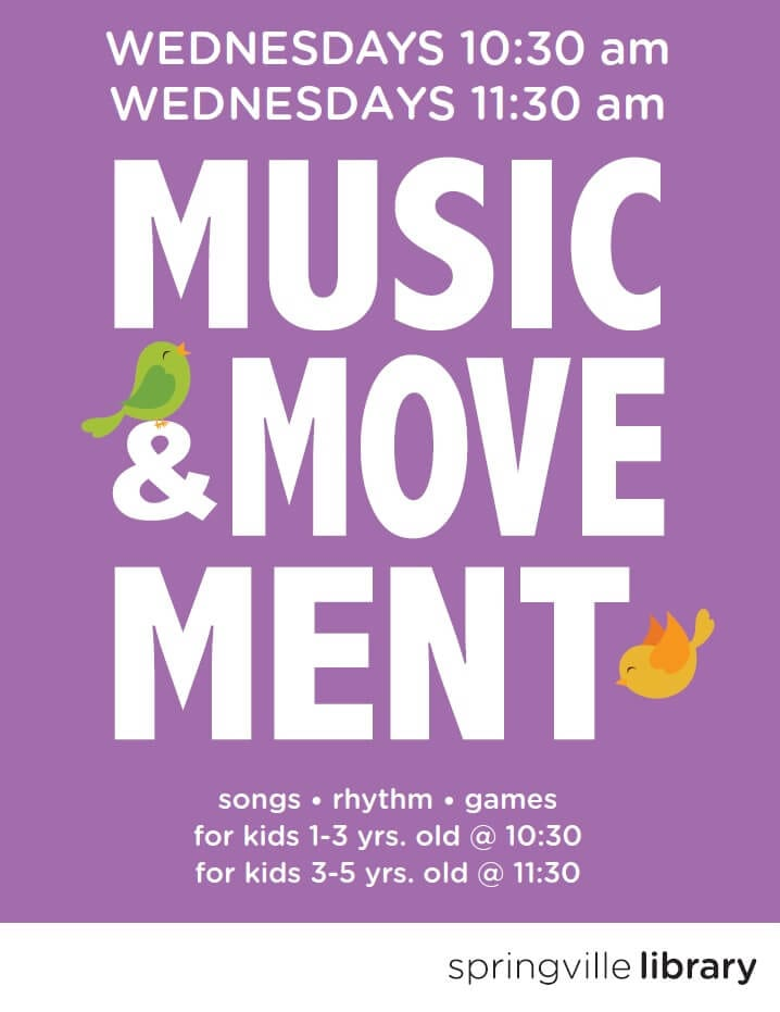 Music & Movement @ Springville Public Library