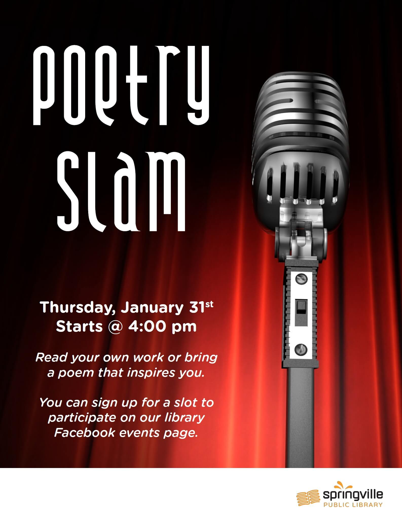Poetry Slam @ Springville Public Library