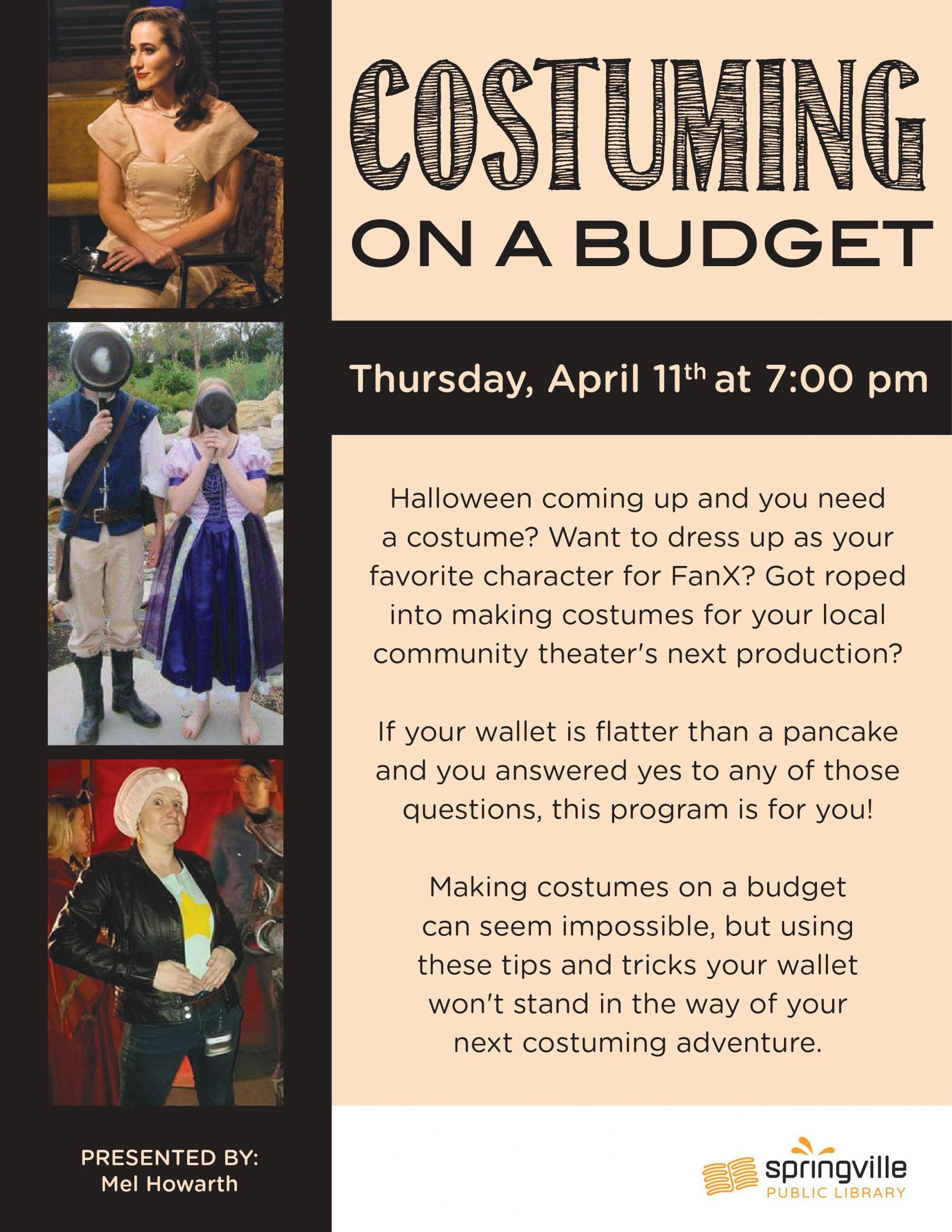 Costuming on a Budget @ Springville Public Library