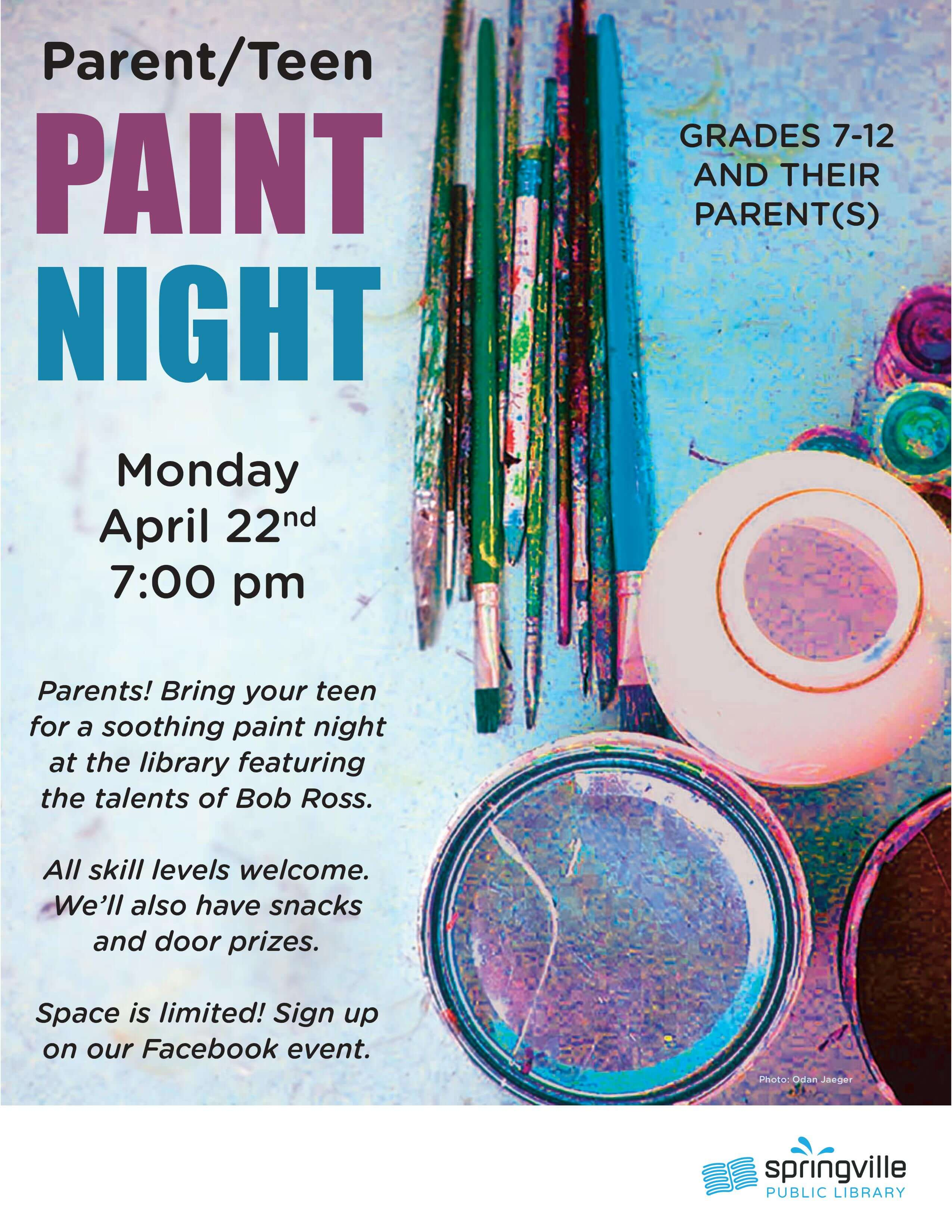 Parent/Teen Paint Night @ Springville Public Library