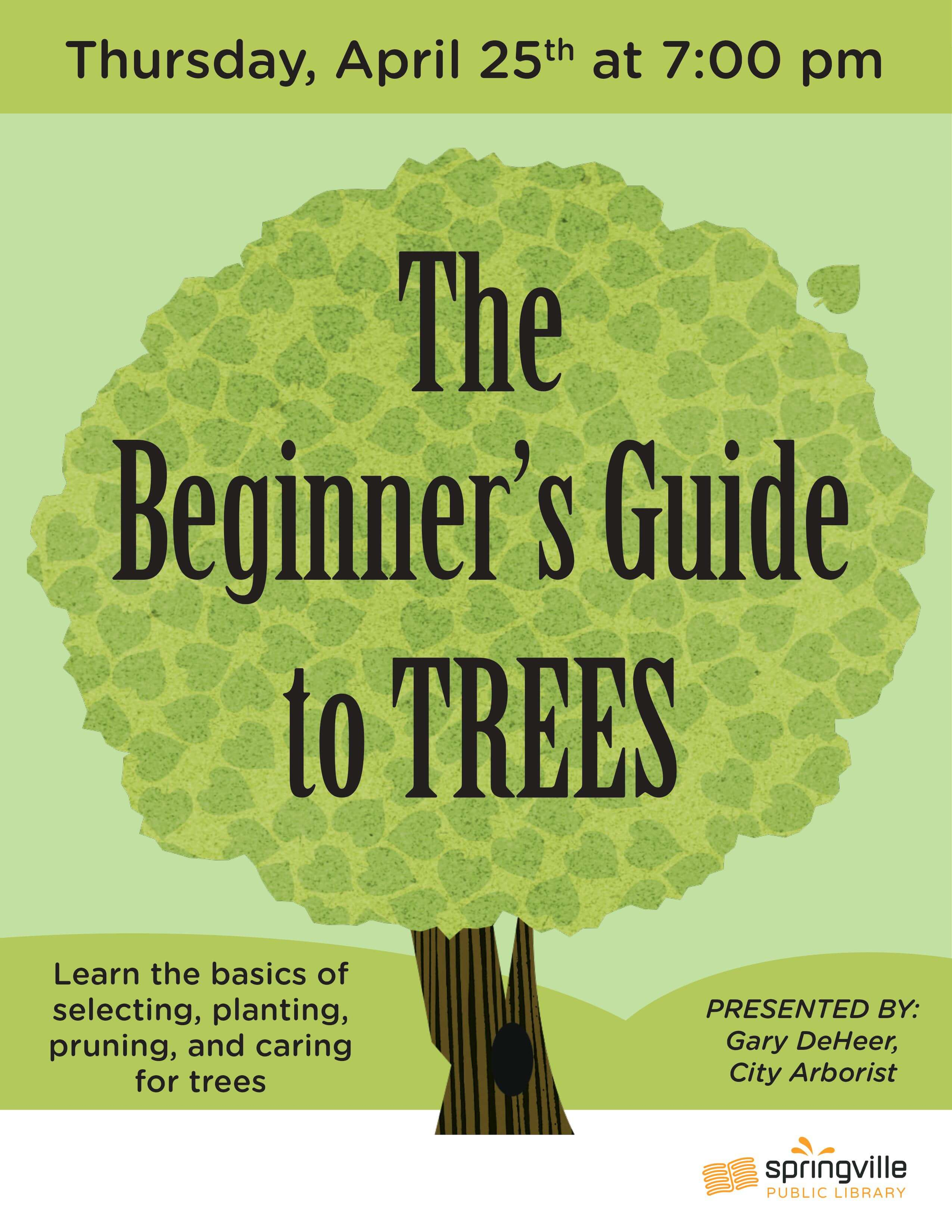 Beginner's Guide to Trees @ Springville Public Library