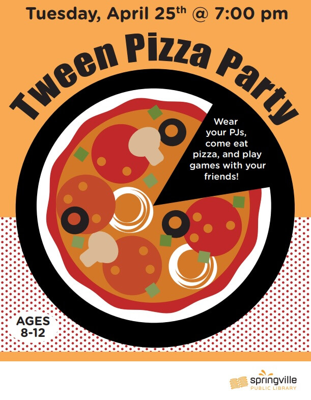 Tween Pizza Party @ Springville Public Library