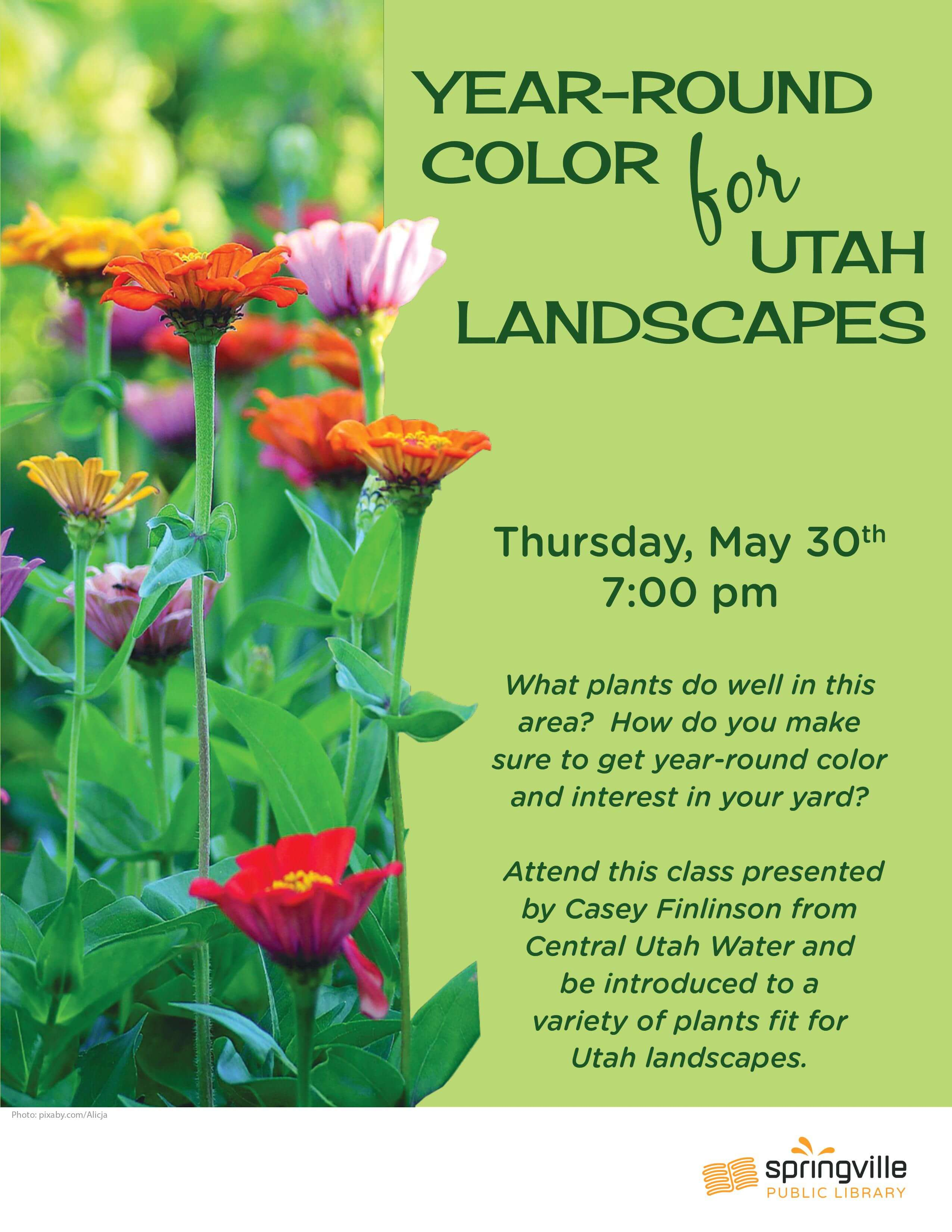 Year-Round Color for Utah Landscapes @ Springville Public Library