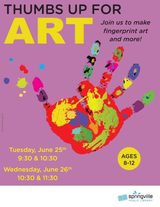 Thumbs Up For Art @ Springville Public Library