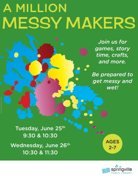 A Million Messy Makers @ Springville Public Library