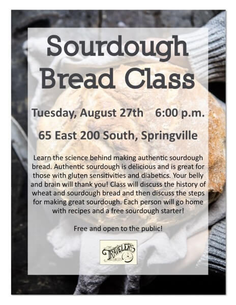 Sourdough Bread Class @ Springville Senior Center