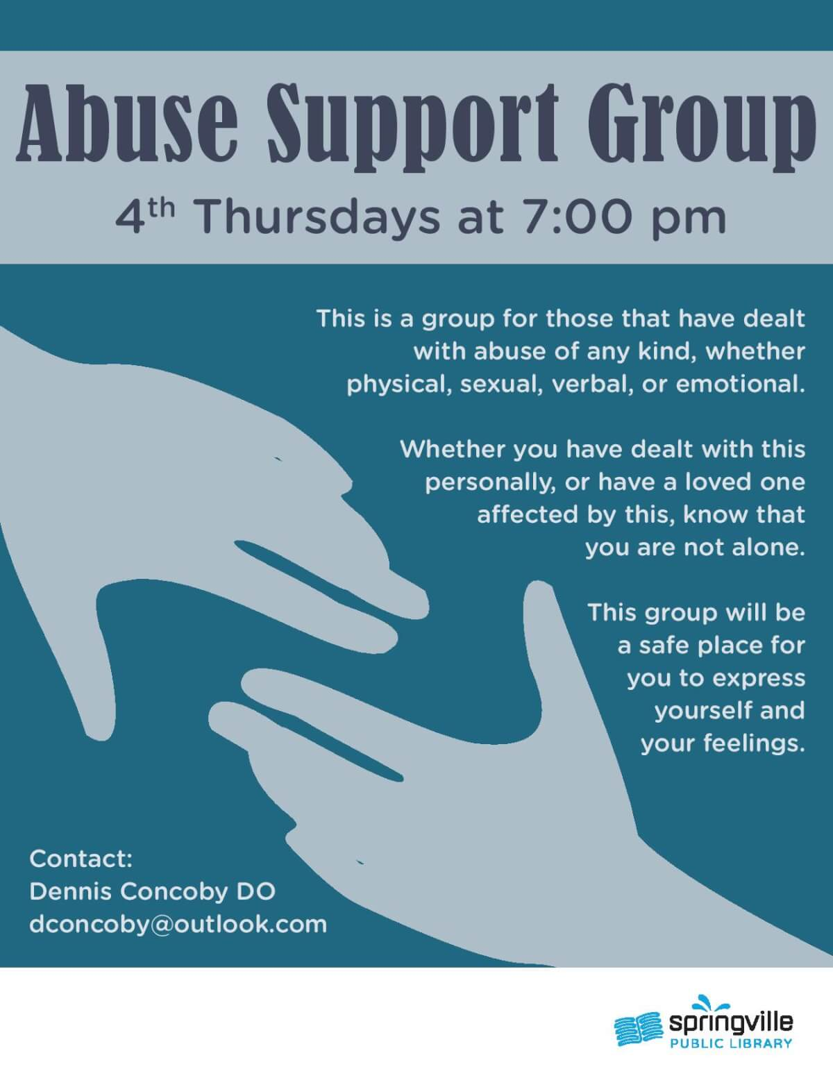 Abuse Support Group @ Springville Library