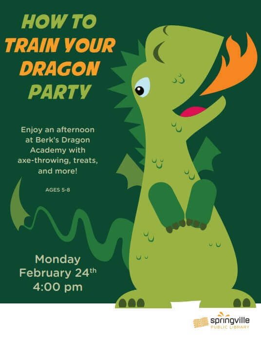 How to Train Your Dragon Party @ Springville Library
